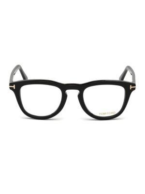49MM Blue Block Square Eyeglasses