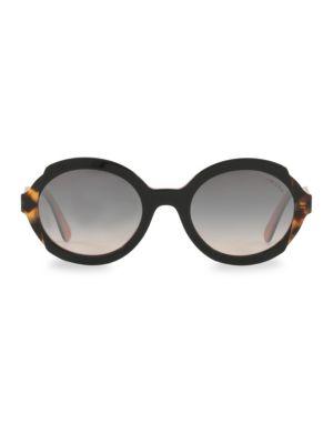 53MM Tortoise Gradient Sunglasses