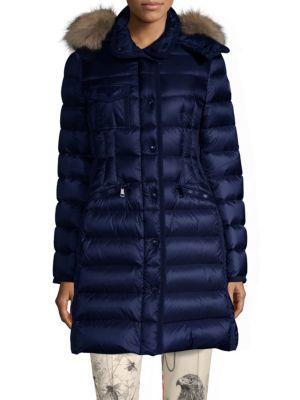 Fur-Trim Hermifur Leger Coat