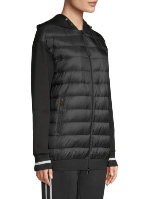 f68f58694 MONCLER MAGLIA MIXED MEDIA HOODED BOMBER