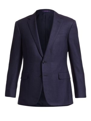 Douglas Two-Button Jacquard Wool, Linen & Silk Jacket