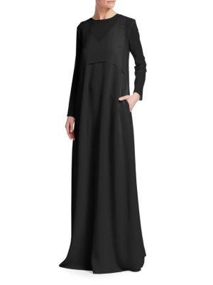 Layered Chiffon Cape Maxi Dress