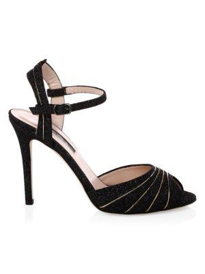 Monroe Glitter Peep-Toe Heels