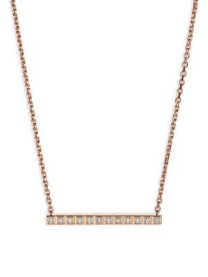 CHOPARD Collier Ice Cube 18K Rose Gold & Diamond Necklace