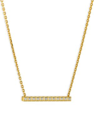 CHOPARD Collier Ice Cube Diamond & 18K Yellow Gold Necklace
