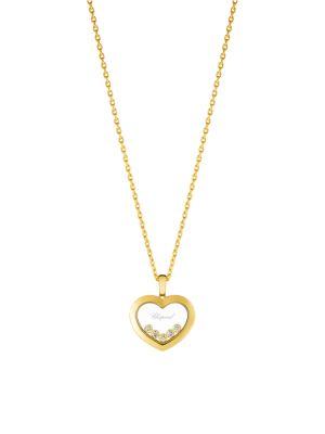 Happy Diamonds 18K Yellow Gold & Diamond Pendant Necklace