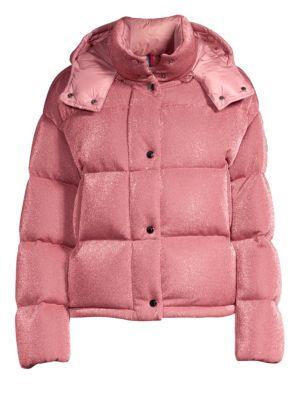 Caille Lurex Puffer Jacket