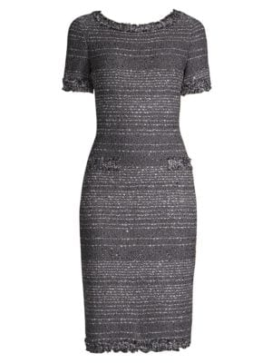 Heathered Knit Sheath Dress by St. John
