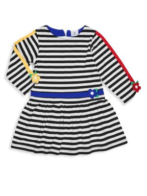 Little Girl's & Girl's Striped T-Shirt Dress