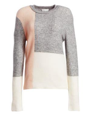 3.1 PHILLIP LIM Lofty Wool-Blend Color Block Sweater