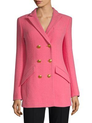 ESCADA Wool Blend Double-Breasted Jacket