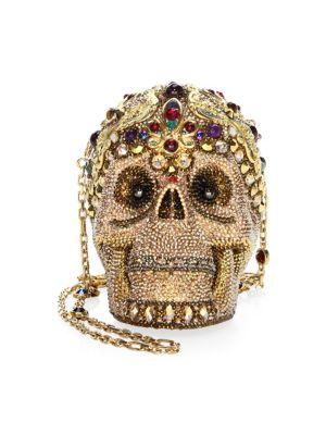 Sanctus Swarovski Crystal Skull Statement Shoulder Bag
