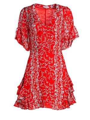 TANYA TAYLOR Kayla Silk Floral Mini Dress