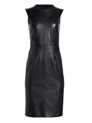 COLLECTION Leather Sheath Dress