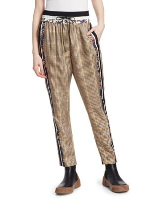Checked Floral Pants