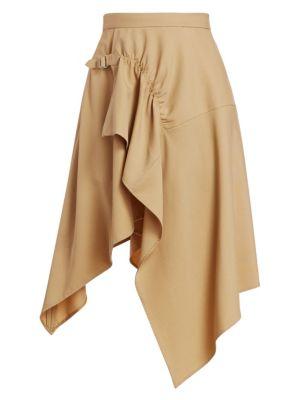 Tailored Handkerchief Midi Skirt