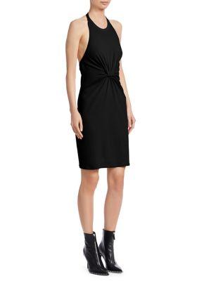 T BY ALEXANDER WANG High Twist Jersey Halter Dress