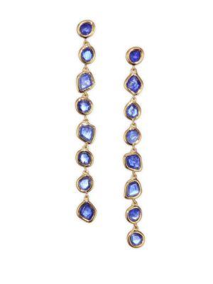 Siren Kyanite & 18K Gold-Plated Drop Earrings