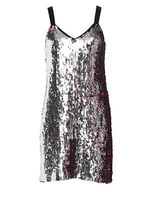 Becca Two-Tone Sequin Mini Dress