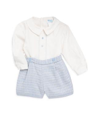Baby Boy's Two-Piece Shirt & Check Shirt Set