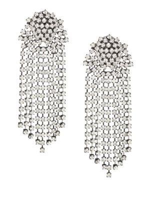 KENNETH JAY LANE Crystal Waterfall Clip-On Earrings