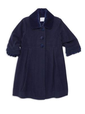 FLORENCE EISEMAN   Little Girl's & Girl's Velvet & Wool Coat   Goxip