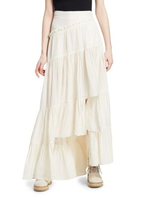 Full Tiered Maxi Skirt