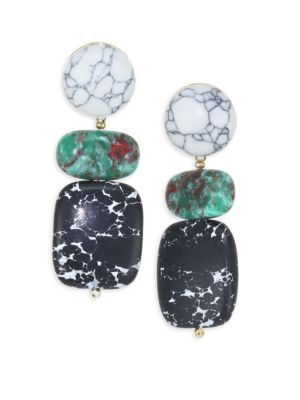 Boulder Drop Earrings