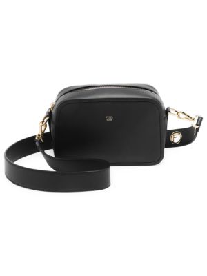 Camera Leather Crossbody Bag