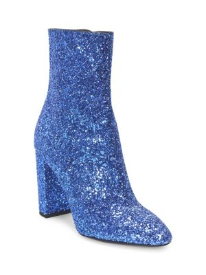 Lou Glitter Zip-Up Ankle Boots