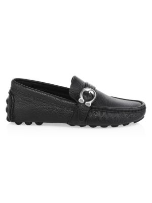 Leather C Strap Driver Loafers