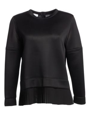Pleated Front Hem Sweatshirt