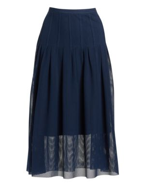 Lace Bell Midi Skirt