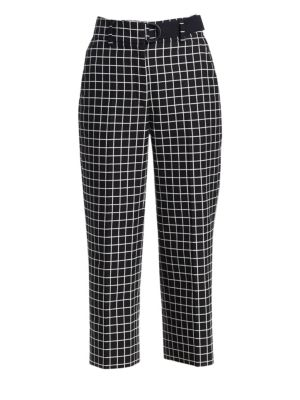 AKRIS PUNTO   Ford Grid Jacquard Cropped Pants   Goxip