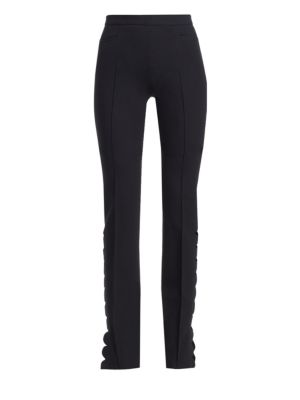 Scalloped Cut-Out Trousers