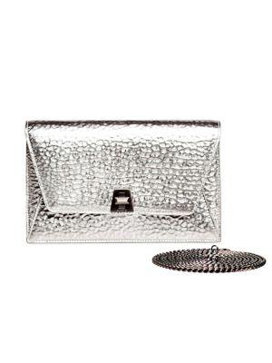 Large Anouk Envelope Metallic Leather Crossbody Bag