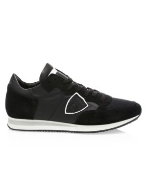 Mesh & Leather Sneakers