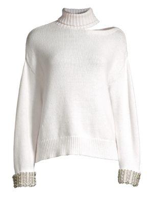 Gemini Turtleneck Cut-Out Sweater