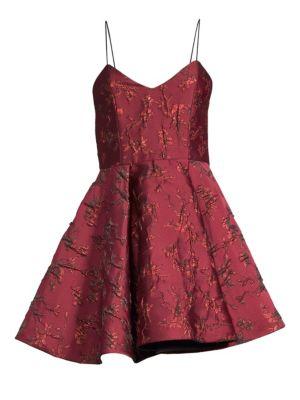 Anette Brocade Mini Dress