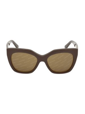 54MM Geometric Acetate Logo Sunglasses