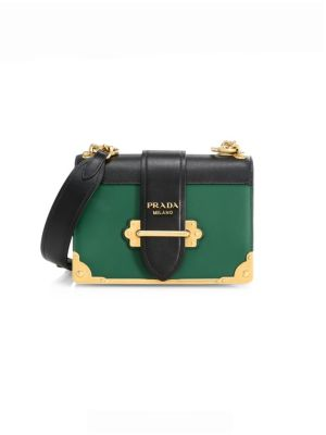 Leather Cahier Colorblock Satchel