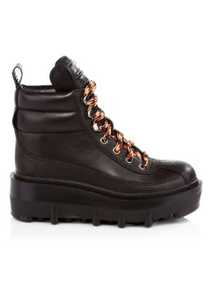 Shay Leather Wedge Hiking Boots