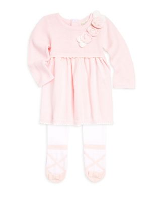Baby Girl's Two-Piece Sweater Dress & Footed Tights Set