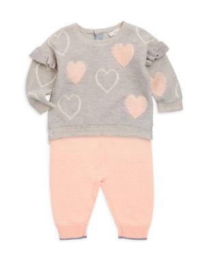 Baby Girl's Two-Piece Sweater & Leggings Set