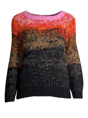 SMYTHE Metallic Ombre Alpaca Wool Sweater