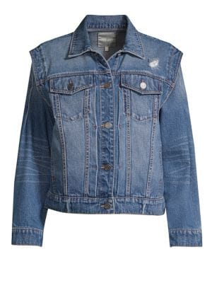 WOMAN EMBELLISHED DENIM JACKET LIGHT DENIM