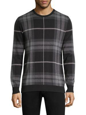 Tartan Jacquard Crewneck Sweater