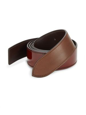 CORTHAY Patent Crocodile, Python, Leather & Suede Buckle Belt