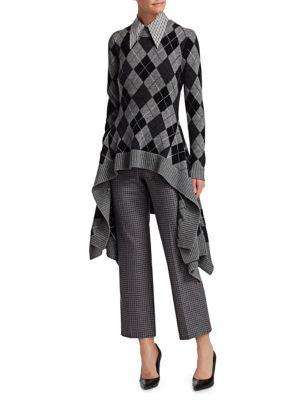 Cashmere Argyle Handkerchief Sweater