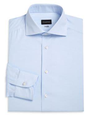 ERMENEGILDO ZEGNA | Windowpane Centofili Dress Shirt | Goxip